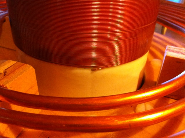 Tesla Coil secondary coil bottom