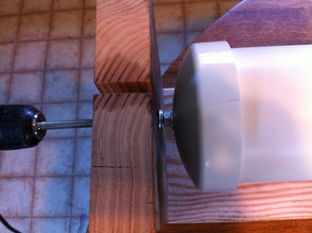 Tesla Coil secondary coil winding jig 3